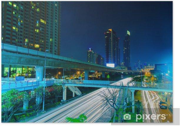 Plakát Bangkok v noci - Infrastruktura