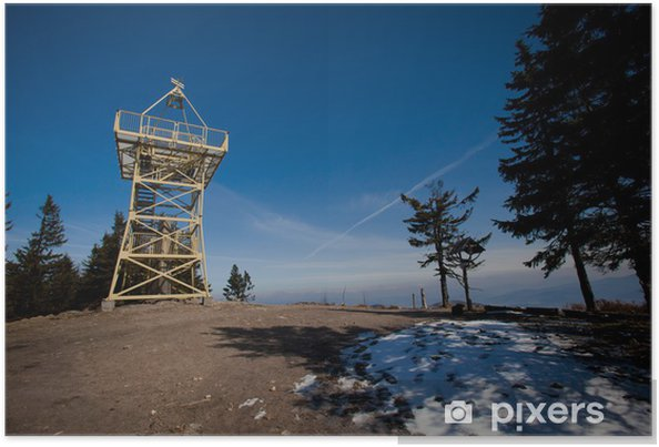 Plakat Barania Góra Tower - piękne górskie zdjęcia Beskidu - Pory roku