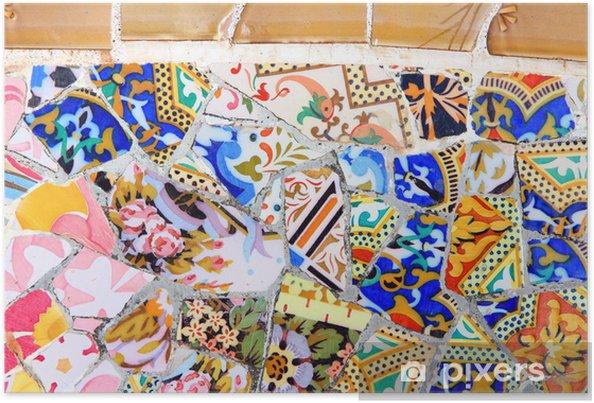 Plakát Barcelona mozaika - Památky