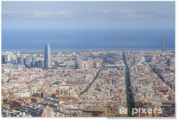 Plakát Barcelona panoráma města - Témata