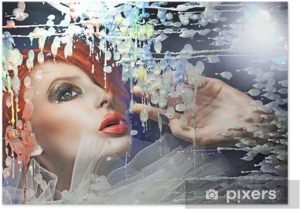 Plakát Barevné portrét mladé krásy - Životní styl, péče o tělo a krása