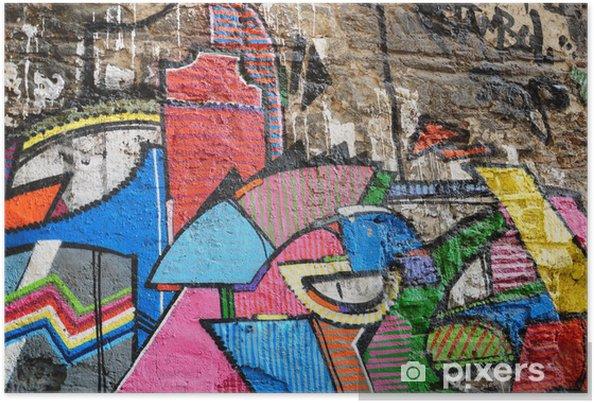 Plakát Barevné segment graffiti jako pozadí - Témata