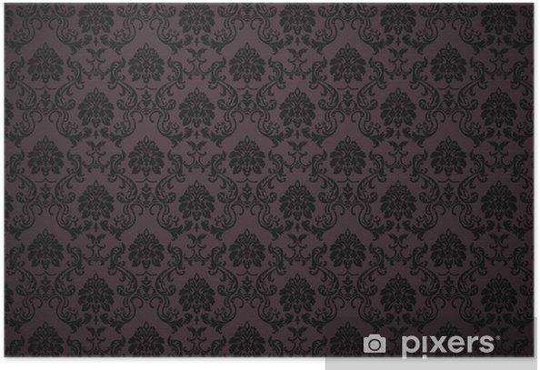 Plakát Barokní tapety s texturou - Pozadí