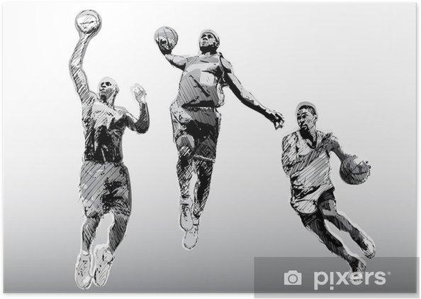 Plakát Barva basketbalové trio - Týmové sporty