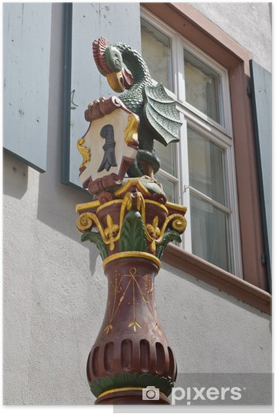 Plakat Basilisk Fountain, Basel - Europa