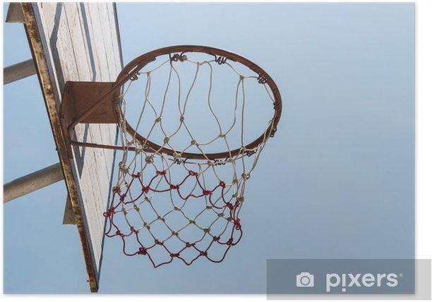 Plakát Basketbal cíl a net - Basketbal