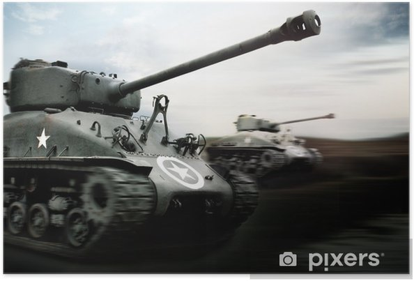 Plakat Battle Tank - Tematy