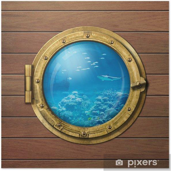 Plakát Batyskaf nebo ponorka světlíkem pod vodou - Lodě