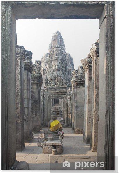 Plakát Bayon Temple at Angkor Thom, Angkor, Kambodža - Asie
