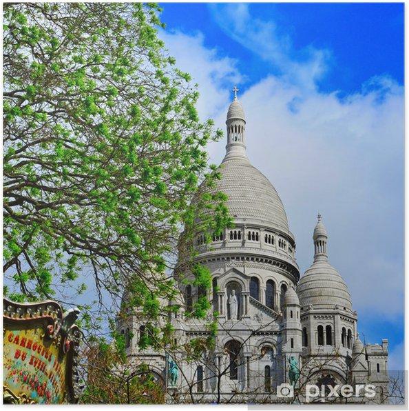 Plakát Bazilika Sacre-Coeur v Paříži, Francie - Evropská města