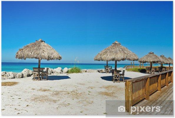 Plakat Beach bar na świeżym powietrzu - Woda