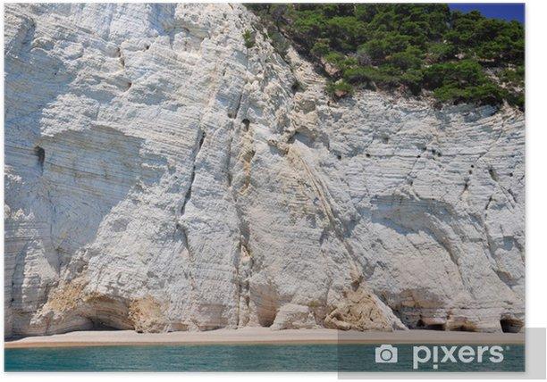 Plakat BEACH mew, Gargano, Apulia, Włochy - Wakacje