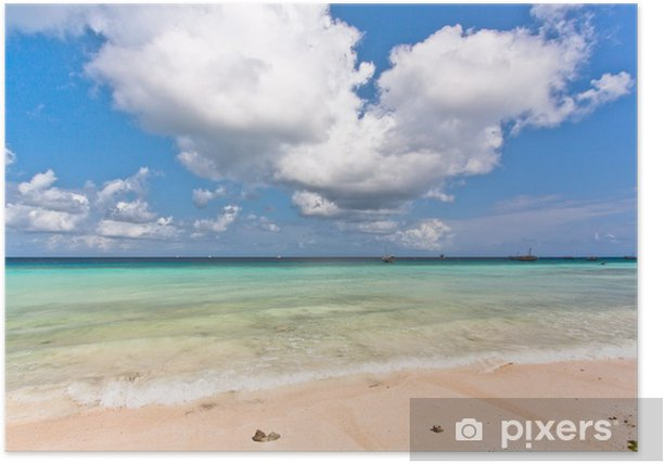 Plakat Beach panorama - Wakacje