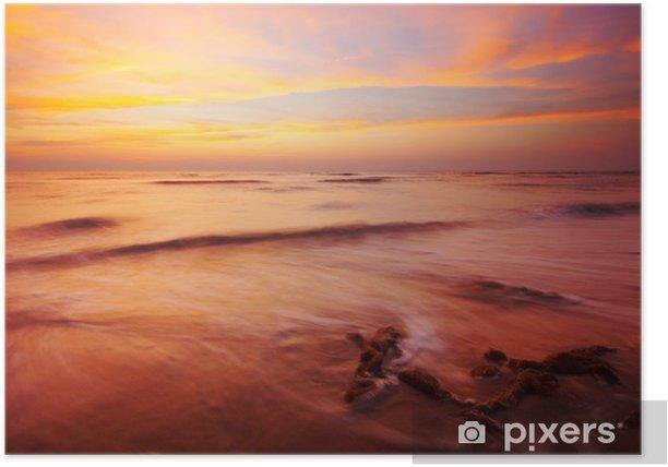 Plakát Beach ve večerních hodinách - Voda