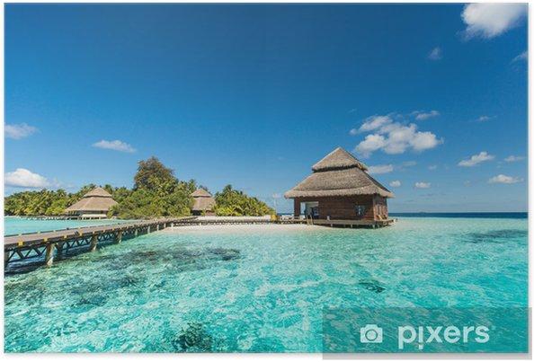 Plakat Beach Villas na małej tropikalnej wyspie - iStaging