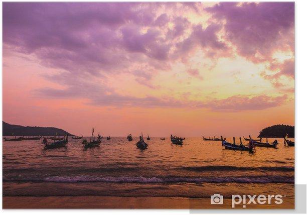 Plakát Beauty Of Sunrise scény na pláži - Nebe