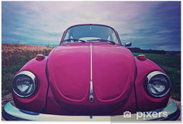 Plakat Beetle przednia - kultowy samochód w Niemczech - Transport