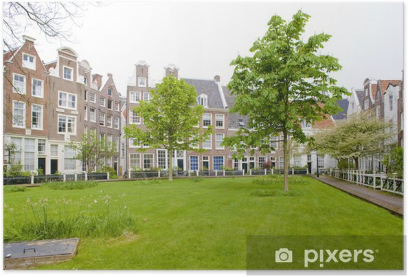 Plakat Begijnhof, Amsterdam, Holandia - Europa