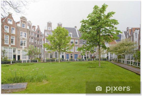 Plakát Begijnhof, Amsterdam, Nizozemsko - Evropa