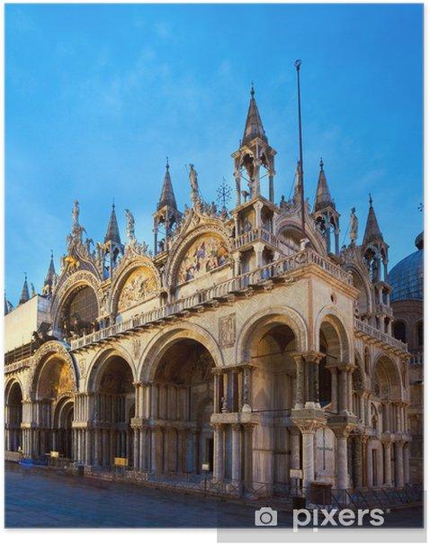 Plakát Benátky Piazza San Marco pohled - Evropská města