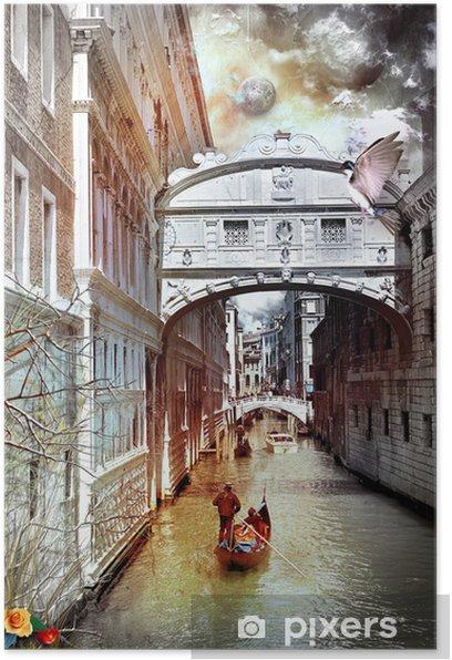 Plakát Benátky sny série - Evropská města