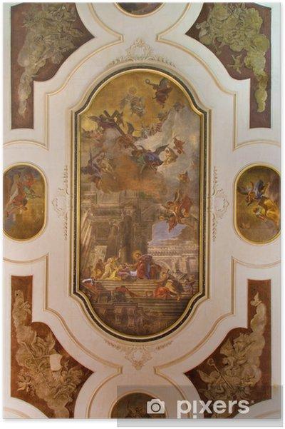 Plakát Benátky - Stropní freska v kostele v kostele svatých apoštolů - Evropská města