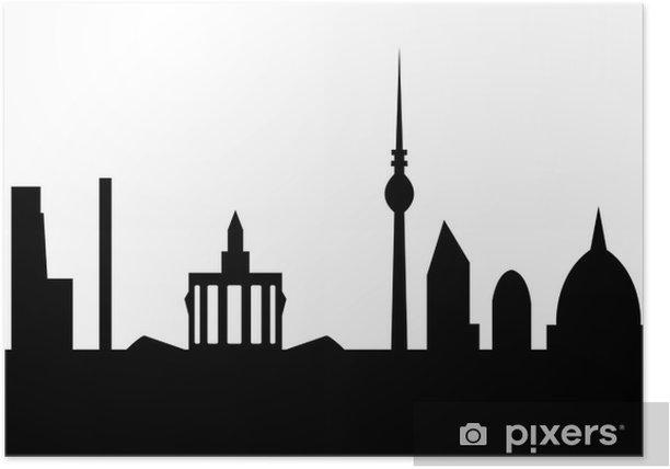 Plakat Berlin skyline - Europa