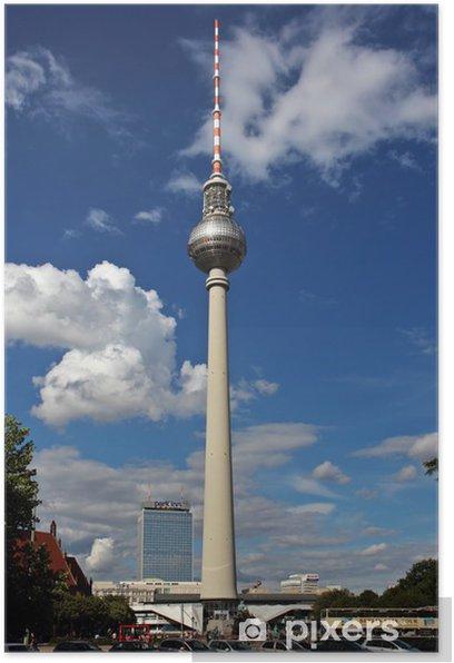 Plakat Berlin wieża telewizyjna na Alexanderplatz - Miasta europejskie