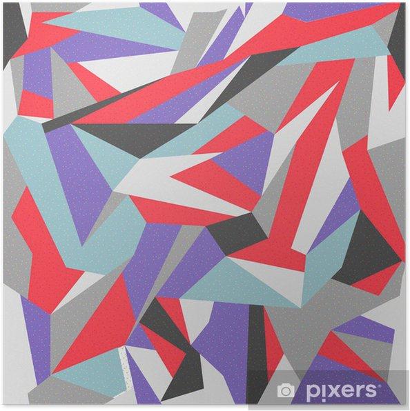 Plakat Bez szwu kolorowe abstrakcyjne tło retro -