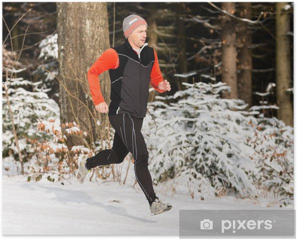 Plakát Běžec v zimě - Individuální sporty