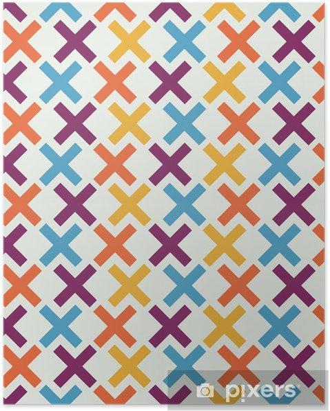 Plakát Bezešvé abstraktní geometrické pozadí - Styly