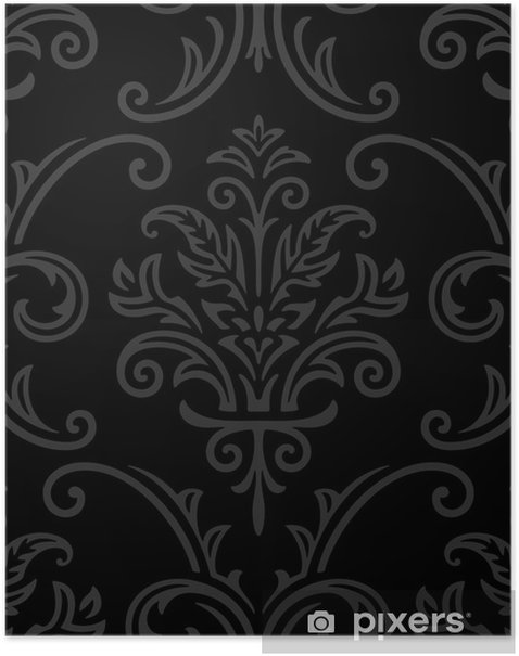 Plakát Bezešvé damaškové vzorek - Pozadí