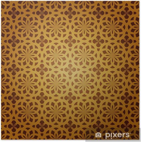 Plakát Bezešvé geometrický vzor islámského umění - Umění a tvorba