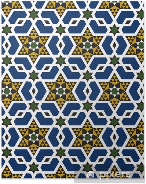 Plakát Bezešvé islámské geometrický vzor - Hvězdičky