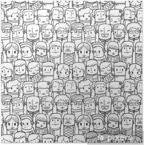 Plakát Bezešvé lidé vzorek - Grafika