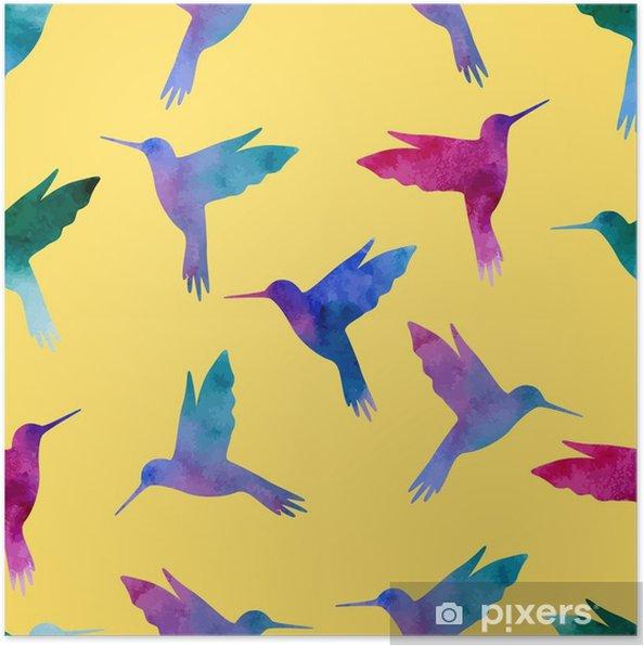 Plakát Bezešvé vzor krásné - Zvířata