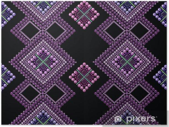 Plakát Bezešvé vzor moderní textury abstraktní pozadí s korálky - Grafika