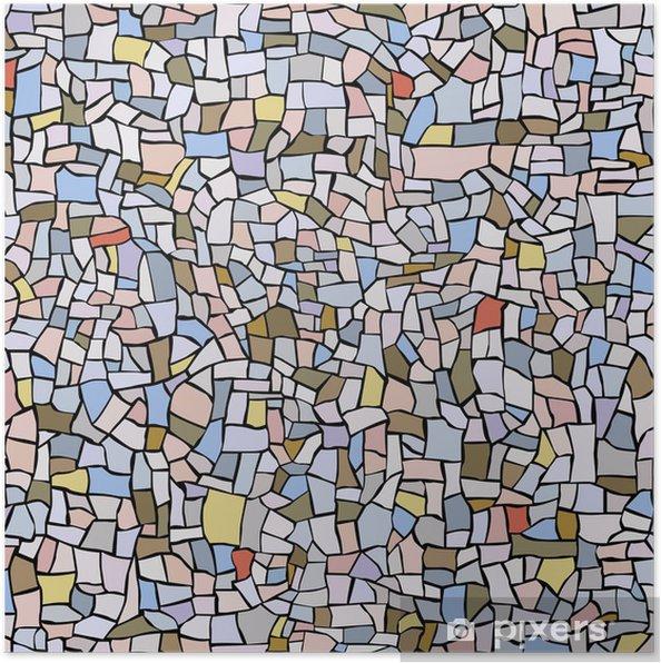 Plakát Bezešvé vzor z mramoru mozaiky. - Umění a tvorba