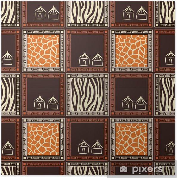 Plakát Bezproblémové vzorek s kůží divokých zvířat. - Struktury