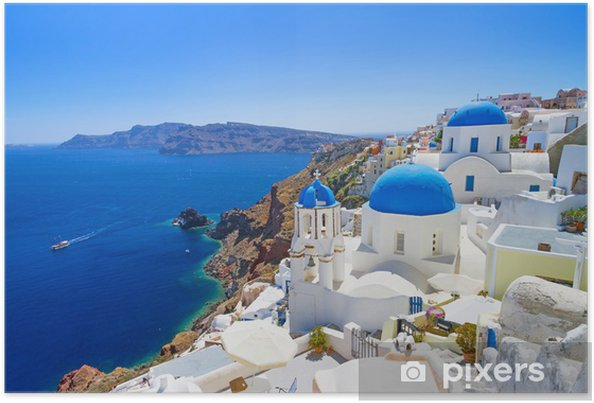 Plakat Biała arhitektura na Santorini - Santorini