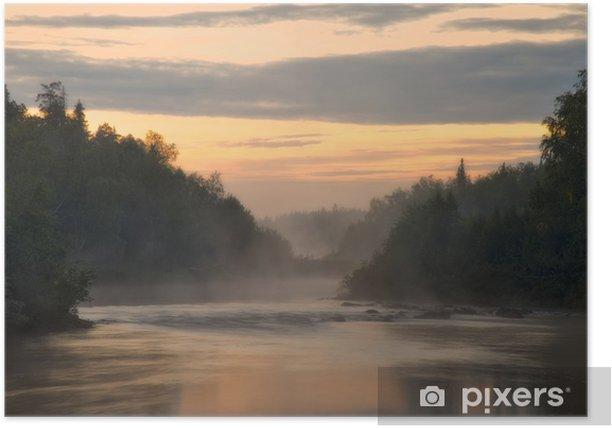 Plakat Biała noc na rzece PANA. Półwysep Kolski. Pana Rzeka. - Sporty na świeżym powietrzu