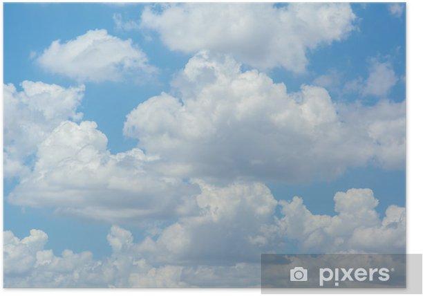 Plakat Białe chmury na niebieskim niebie - Tematy