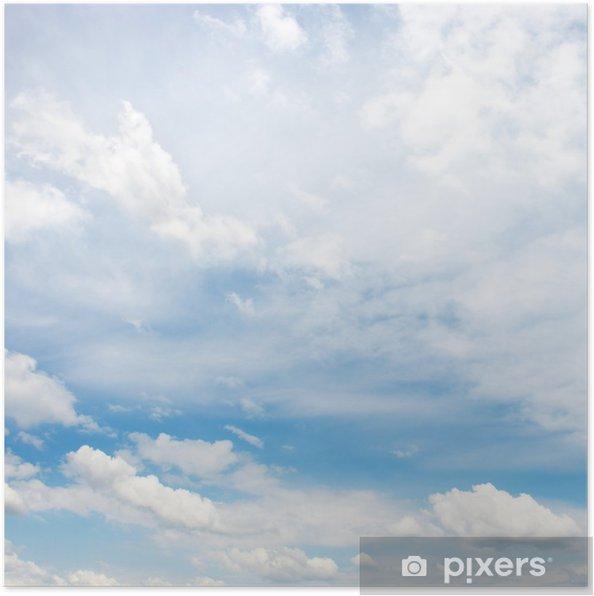 Plakat Białe puszyste chmury - Niebo