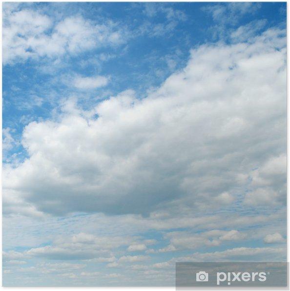 Plakat Białe puszyste chmury - Tematy
