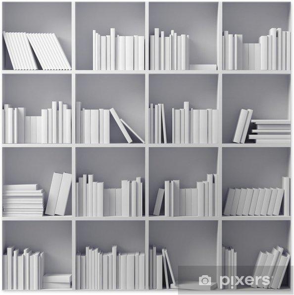 Plakat Białe regały - Biblioteczka