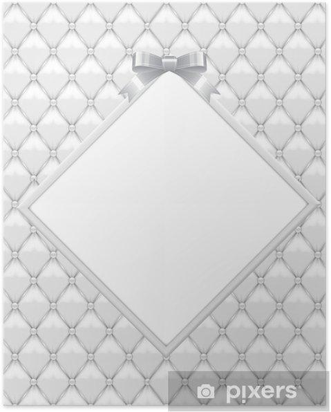 Plakat Białe tapicerki z rocznica ślubu ramy 22 - Świętowanie