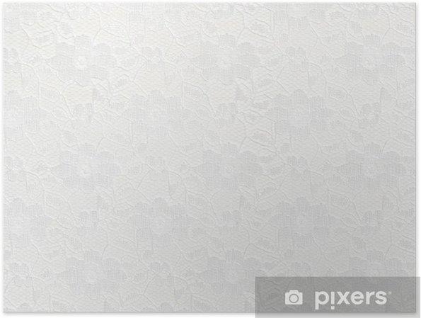 931ce0a64e08f1 Plakat Białe tło koronki • Pixers® - Żyjemy by zmieniać