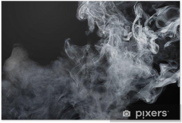 Plakat Biały dym na czarnym tle. izolowane. - Style
