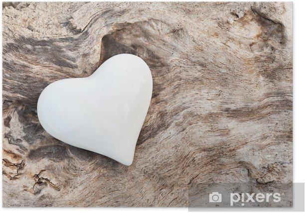 Plakat Biały Heart - Style