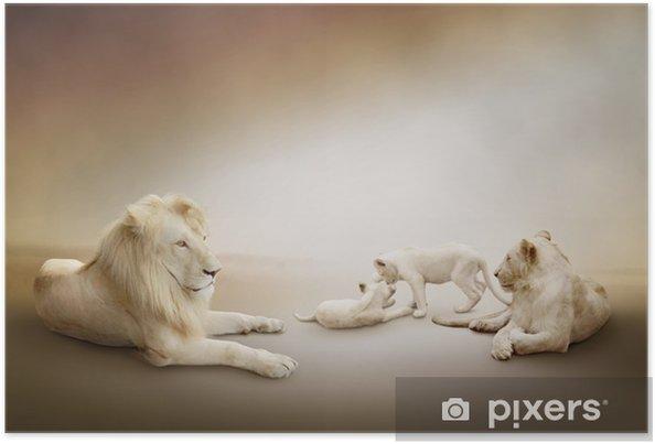 Plakat Biały lew rodzina - Style